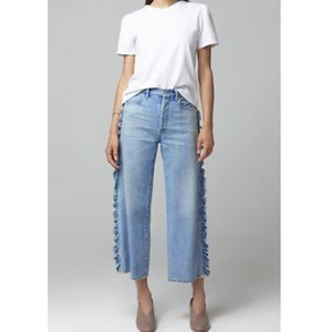 Citizens of Humanity Wide Leg Side Ruffle Jeans 31